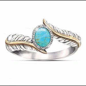 Turquoise Two-Tone Ring